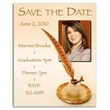 Quill Save the Date Magnet - Quill Save the Date Magnet
