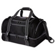 Ultimate Duffel Bag - Duffel bag with jacquard exterior, 2-tier zippered storage compartments, zippered side and front pockets and shoulder strap.
