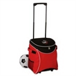Ice River Lite Rolling Cooler - 48 can capacity rolling cooler with street trolley handle, smooth wheels, side mesh pockets and large pocket on lid.