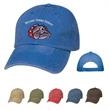 Washed Cap - Washed Cap. 100% Washed Cotton Twill, 6 Panel, Low Profile,Unstructured Crown & Pre-Curved Visor & Adjustable Self-Material Strap.