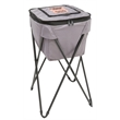 "Coleman Soft Portable Party Cooler - 14 3/4"" x 27 3/4"" x 15"" cooler with folding stand, antimicrobial liner, side handles and zipper closure from Coleman"
