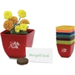 Bamboo Planter - Bamboo planter with soil disk, seeds and instructions.