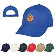 Econo Cap - Econo Cap made of 100% Polyester with a 5 Panel, Medium Profile,Unstructured Crown & Pre-Curved Visor.