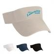 Cotton Chino Visor - Cotton Chino Visor.  100% Cotton Chino Twill, Garment Washed. Heavy Duty, 4 Row Stitching on Double Layer Cotton Chino Sweatband.