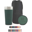 Regency Gift Set - Gift set that includes a debossed bag, coaster and travel cup with sleeve