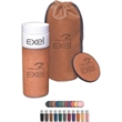 """Alta Series Gift Set - Alta series gift set with 7.25"""" 14-ounce polyurethane tumbler and drink coaster in drawstring gift bag."""
