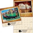 Kingswood Collection Destinations Wall Calendar - Stitched binding, 13 month calendar with photos of vacation destinations.