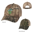 Realtree(TM)&Mossy Oak(R)Hunter's Hideaway Mesh Bk Camo Cap - Hunter's Hideaway Mesh Back Camouflage Cap. 60% Cotton/40% Polyester. 6 Panel, Low Profile. Unstructured Crown with Mesh Back.