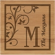 """Bamboo Coasters - Bamboo coasters (set of 4 with holder - same image on all). 4"""" x 4"""""""