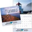 Kingswood Collection Lighthouses Wall Calendar - 13 month stitched binding wall calendar.