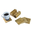Bamboo Coaster Set - Bamboo Coaster Set. This eco-friendly set comes with four bamboo coasters.