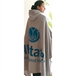 Game Day Hooded Blanket™ - Hooded blanket made from fleece material.
