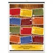 Color Tags 18x25 Poster Calendar - Color Tags 18x25 easy to read, large format poster calendar