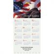 Z-Fold Patriotic Calendar - Tri-fold style calendar with full color design.
