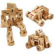"""Auto-Botic Puzzle Fidget Toy - 6"""" robot puzzle toy that's made of wood and turns into a car or any other creative shape"""