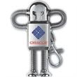 Robot Drive™ Tier 1 - High polish heavy chrome robot style USB 2.0 flash drive.