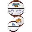 Mini Signature Basketball - Mini signature synthetic leather basketball with white autograph panels.