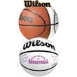 Full Size Wilson® Signature Basketball - Full size high quality composite leather basketball with white autograph panels.