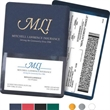 Insurance Card, Lottery or Coupon Holder w/ Front Pocket - Insurance Card, Lottery Ticket or Coupon Holder with foil-stamped personalization and clear business card pocket on front.