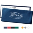 Blue Insurance Card, Lottery Ticket or Coupon Holder - Blue Insurance Card, Lottery Ticket or Coupon Holder with foil-stamped personalization.