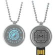 16GB Medallion Drive (TM) Tier 1 - Premium metal USB 2.0 drive with wearable neck chain.