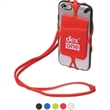 Strappy Mobile Device Pocket - Silicone pocket with detachable lanyard.