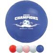 "Mini Vinyl Soccer Ball - Mini soft vinyl soccer ball 4 1/4"" featuring re-inflatable athletic valve."
