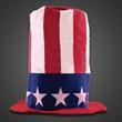 Patriotic Stove Top Novelty Hat - Patriotic stove top hat, silk screen imprint