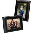 Madison Leather Photo Frame - Upscale leather frame with plush easel stand and silver contrast stitching.