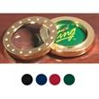2 Piece Brass Magnifier Paper Weight - Brass plated combination 2 piece magnifier and paper weight.