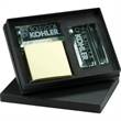Atrium (TM) Barclay Glass Gift Set - Glass gift set includes business card holder and message pad holder.