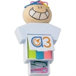 Goofy Clip N Flag Set - Smiling head with concealed magnet to attract paper clip with tape flags.