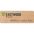"Wood Screened Badge - Customizable wood screened 1/16"" thick badges in 1-5 or 6-10 square inch sizes."