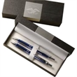 Executive Gift Box - Black pebble grain finish with striking brushed silver plate