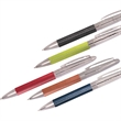 Tuscany™ Executive Pen - Stainless steel twist-action ballpoint pen with faux leather wrapped body.