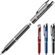 Terranova™ Triple Function Pen - Triple function pen with LED light, precision stylus and black ink ballpoint