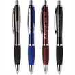Santorini Torch Pen - Santorini Torch pen features ergonomic pen body w/Blue Ink tip that converts to a powerful LED Flashlight with a double click.