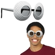 Golf Ball Sunglasses - Golf ball themed plastic sunglasses.