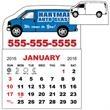 3 X 3.875 - Magnet Calendar Pad - 3 X 3.875 - Magnet Calendar Pad