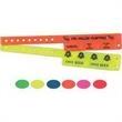 "Neon Cash Tabs Wristband - Blank, neon cash tab wristbands, 9 3/6""."