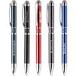 Farella™ Stylus Pen - Farella Stylus is a high gloss enamel, chrome pen with a diamond etched centerband, comfortable grip, mesh stylus & black ink