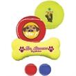 Full Color Transfer - Bone Shaped Toy Tennis Ball - Optic yellow bone-shaped toy tennis ball for pets