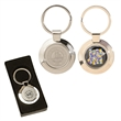 Sterling silver Plated Circle Keyring