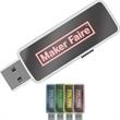 "16GB LED LogoLight (TM) Drive Logo LH - USB LED Flash drive with a black casing and a dark mirror front; 2 1/8"" long."