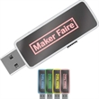 "1GB LED LogoLight (TM) Drive Logo LH - USB LED Flash drive with a black casing and a dark mirror front; 2 1/8"" long."