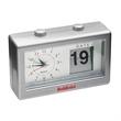 Calendar Clock - Retro design desktop analog clock with a calendar window flip-style date display.