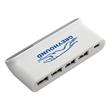 4 Port USB Hub with Digital Clock and Temperature