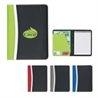 "Cascade 8 1/2"" x 11"" Portfolio - Portfolio with writing pad, card holders and elastic pen loop."