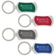 Grams Key Ring - Key ring with jewel tone color accent and weighted construction.