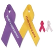 """5/8"""" x 3 1/2"""" Awareness Ribbon (folded) Imprinted with Tape - Awareness ribbon with tape attachment."""